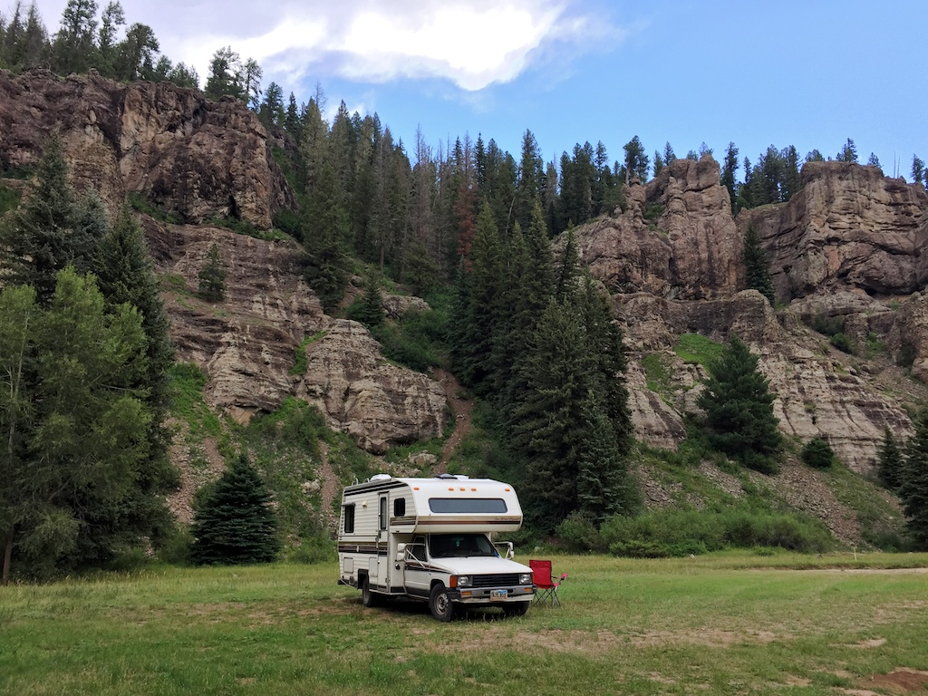 5-star boondocking site along Colorado's East Fork Road