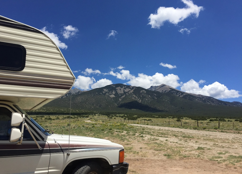 Free camping near Great Sand Dunes on Lake Como Rd