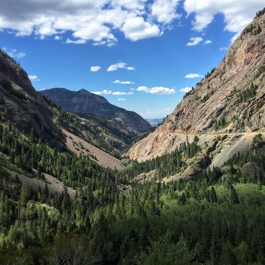 View while driving the Million Dollar Highway