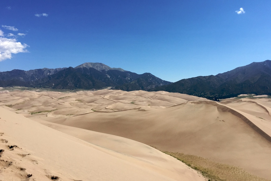View from the top of the High Dune, Great Sand Dunes