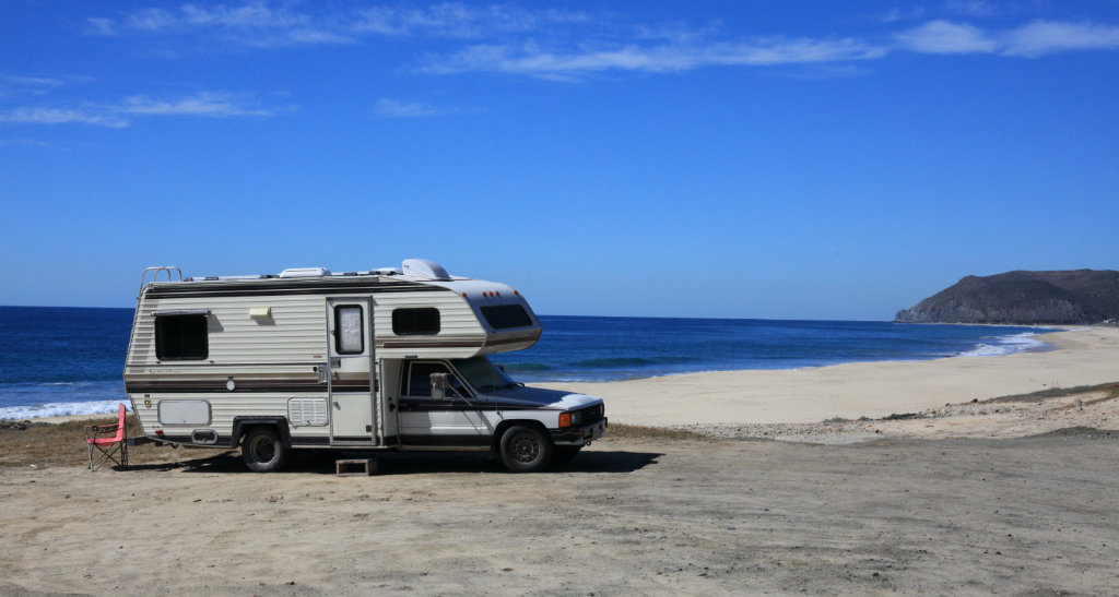 Free beach camping is easy on the Baja RV trip budget!