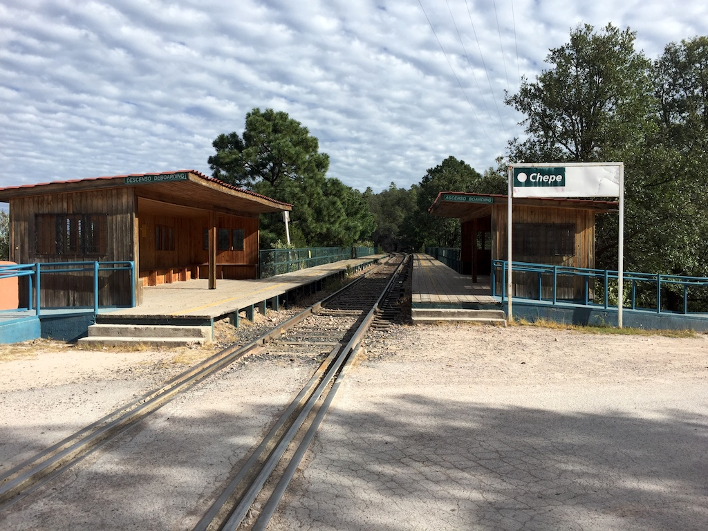 El Chepe train station, copper canyon train
