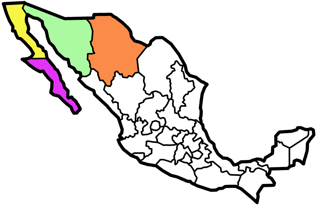 Mexico map, where we've traveled