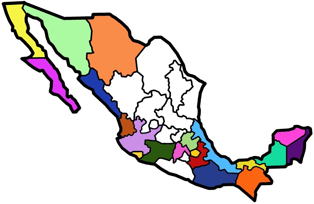 Map of Zennie's travels in Mexico