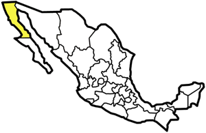 Baja California, Mexico map