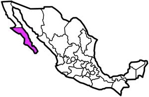 Baja California Sur, Mexico map