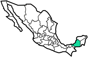 Campeche, Mexico map