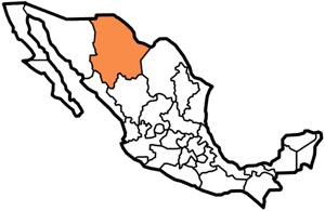 Chihuahua, Mexico map