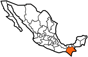 Chiapas, Mexico map