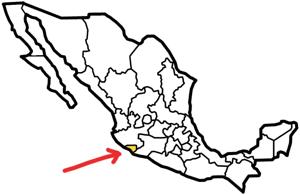 Colima, Mexico map
