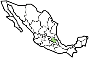 Hidalgo, Mexico map