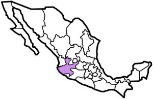 Jalisco, Mexico map