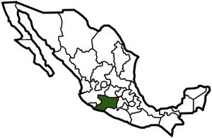 Michoacán, Mexico map