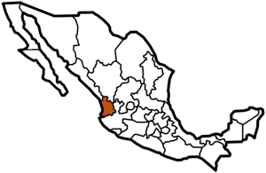 Nayarit, Mexico map