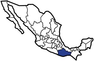 Oaxaca, Mexico map
