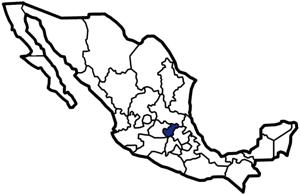 Querétaro, Mexico map