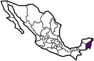 Quintana Roo, Mexico map