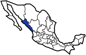 Sinaloa, Mexico map