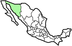 Sonora, Mexico map