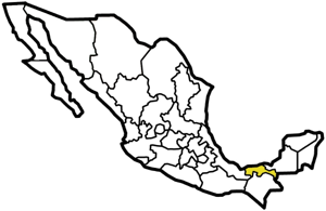 Tabasco, Mexico map