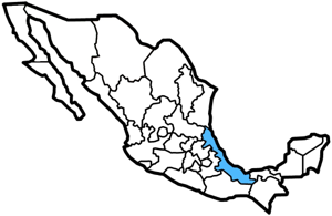 Veracruz, Mexico map