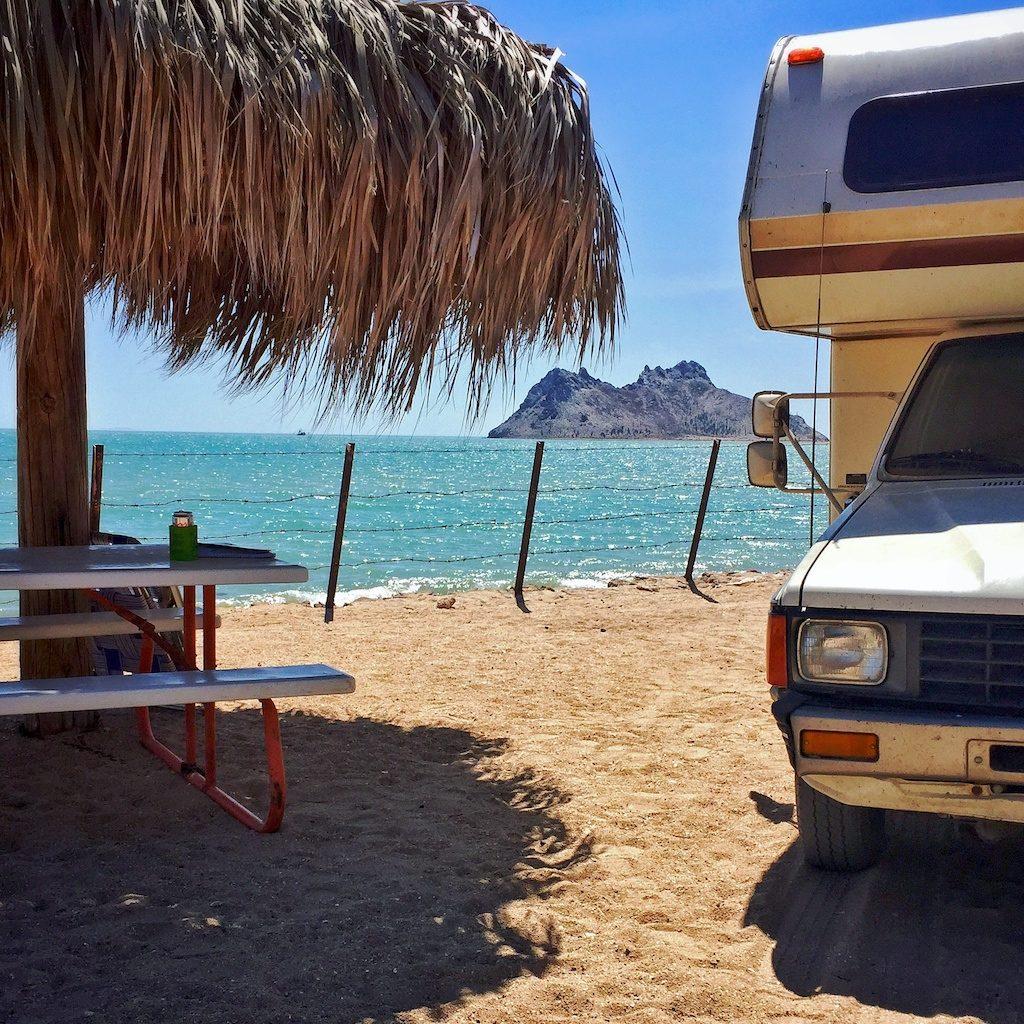 Islandia campsite in Kino Bay, Sonora, Mexico