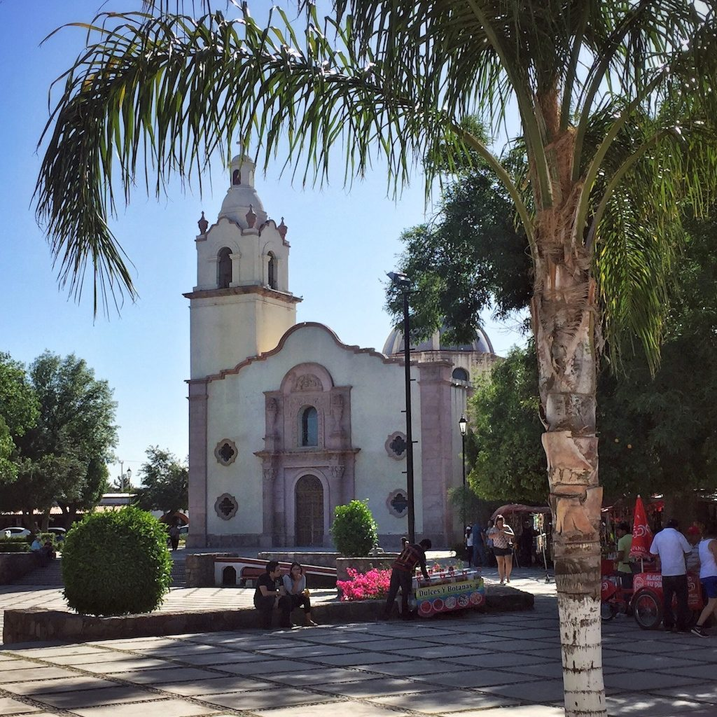 Mission church in Magdalena de Kino, Sonora, Mexico