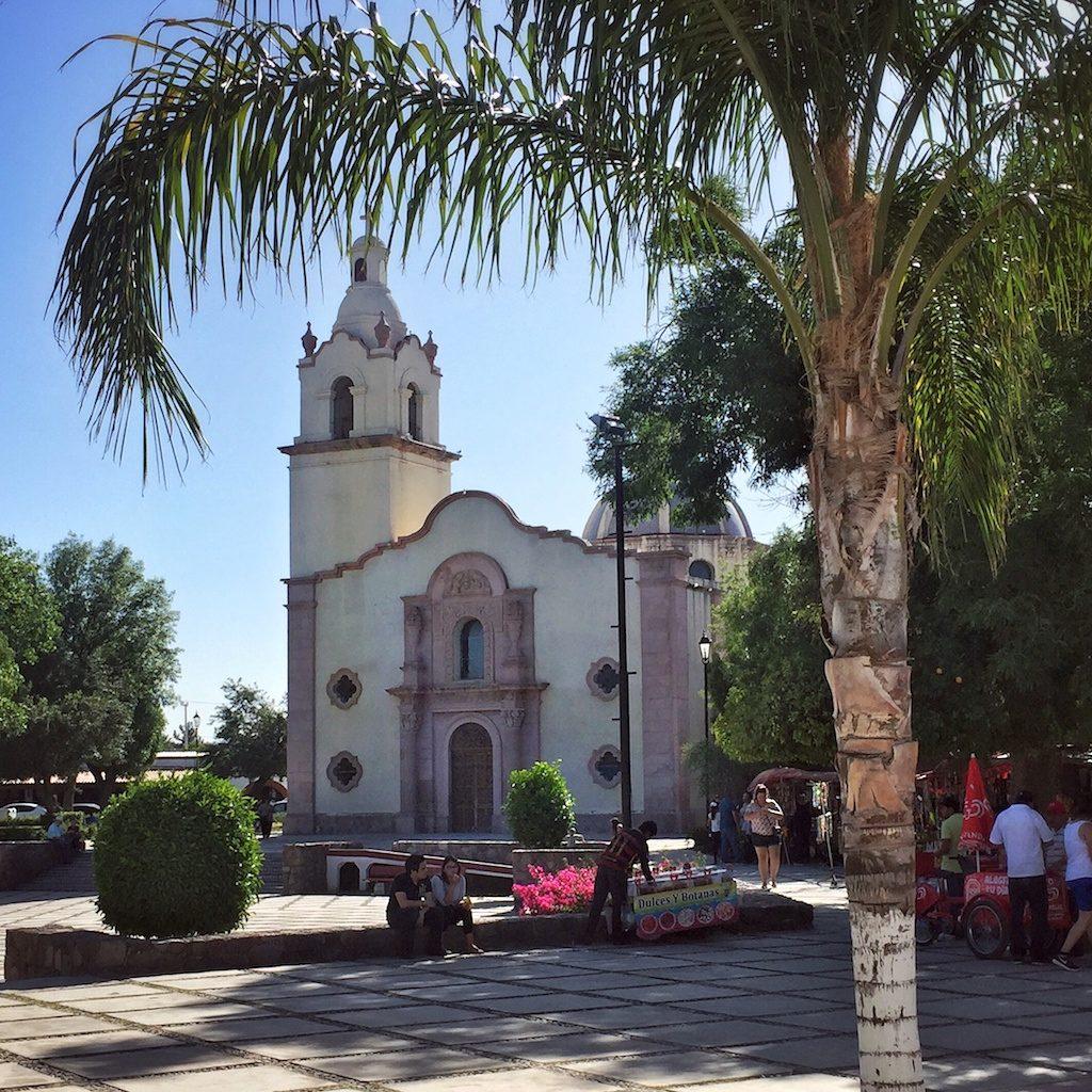 Mission church in Magdalena de Kino, Sonora, Mexico