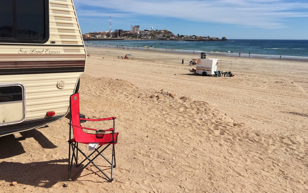 Camping on the beach at Puerto Penasco (Rocky Point), Sonora, Mexico