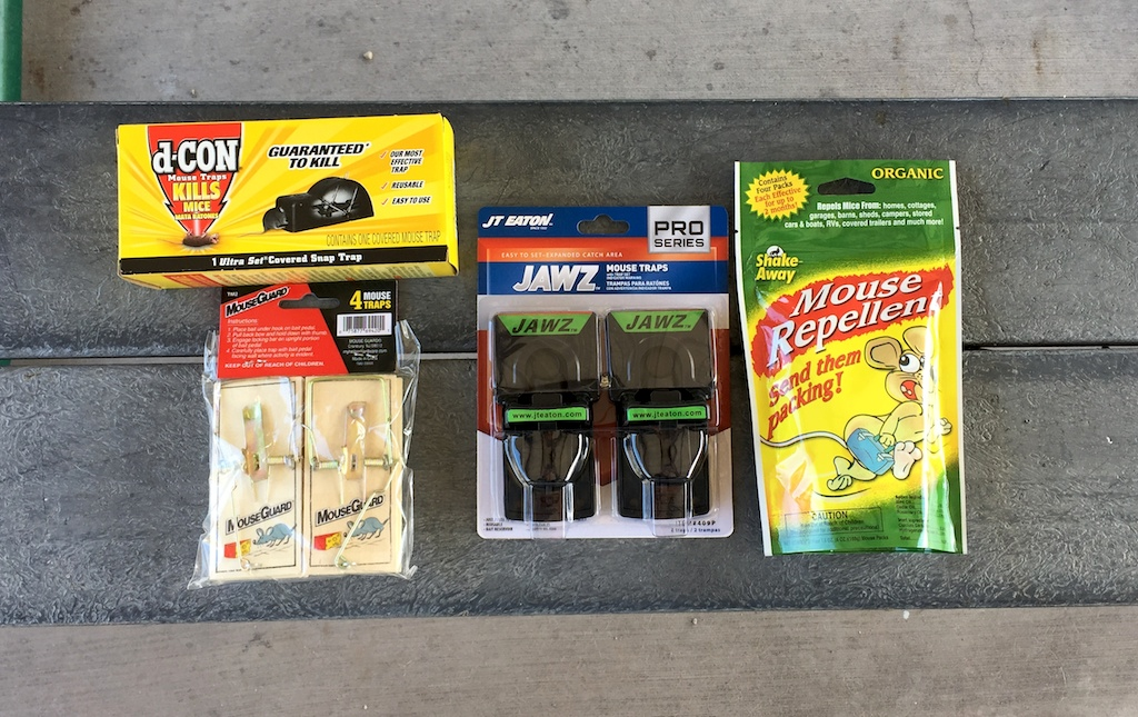 Different types of mousetraps, to rid your RV of a pest