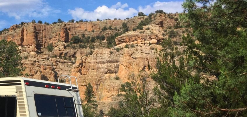 Cliffs and Camping at the Gila Forks