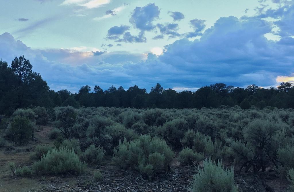 Free camping near Ojo Caliente, at Taos Junction