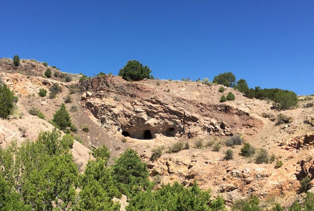 Entrances to the mica mine, near Ojo Caliente