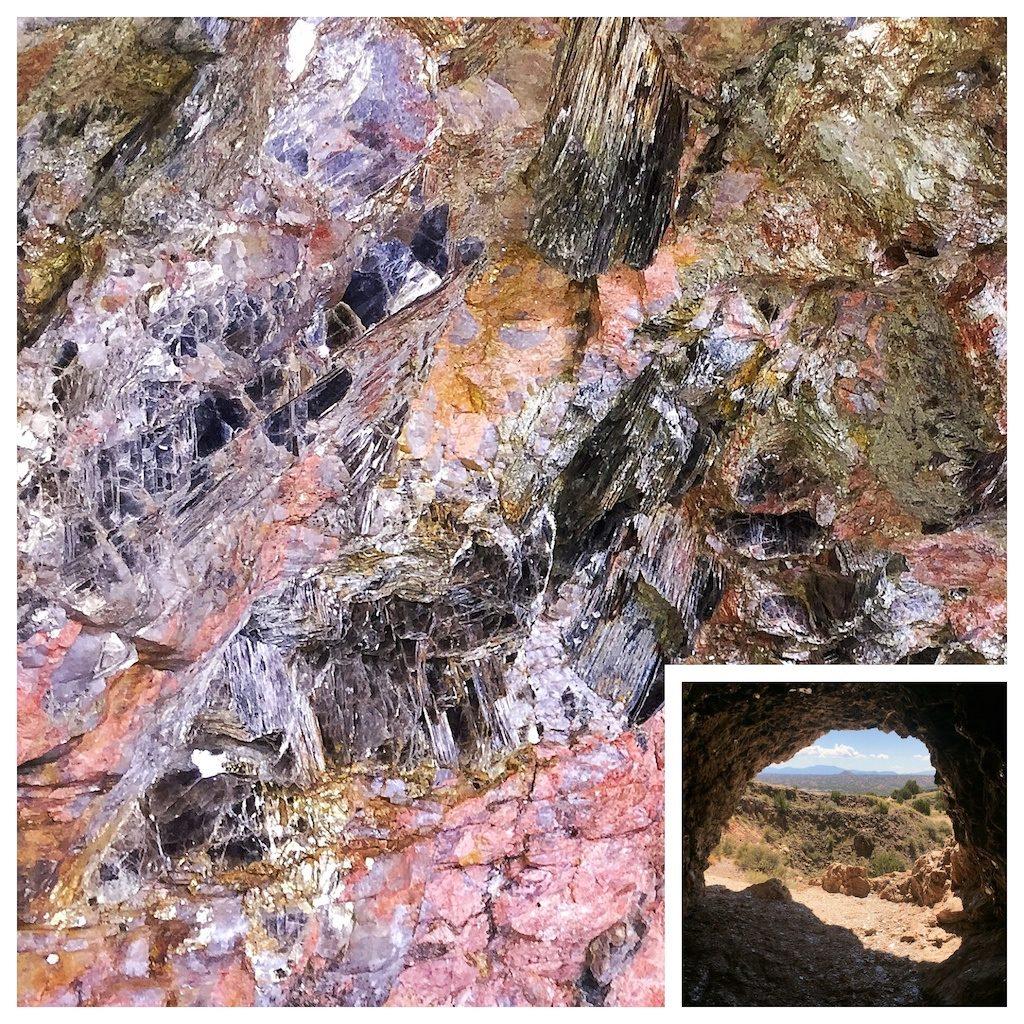 Inside the mica mine, near Ojo Caliente hot springs resort