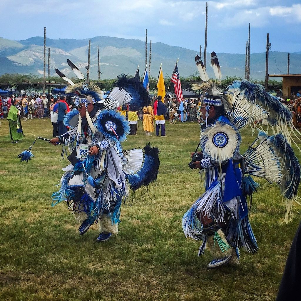 Costumes at the Taos Pueblo Powwow