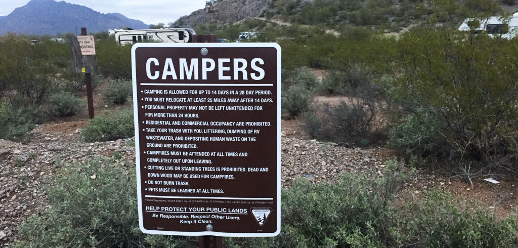 BLM RV boondocking rules for beginners