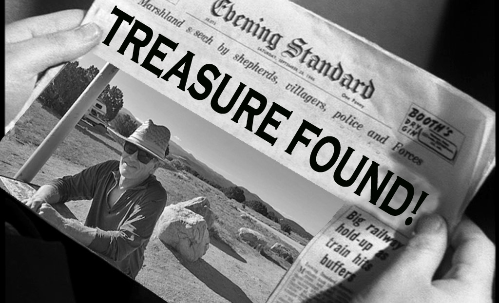 Treasure found newspaper headline