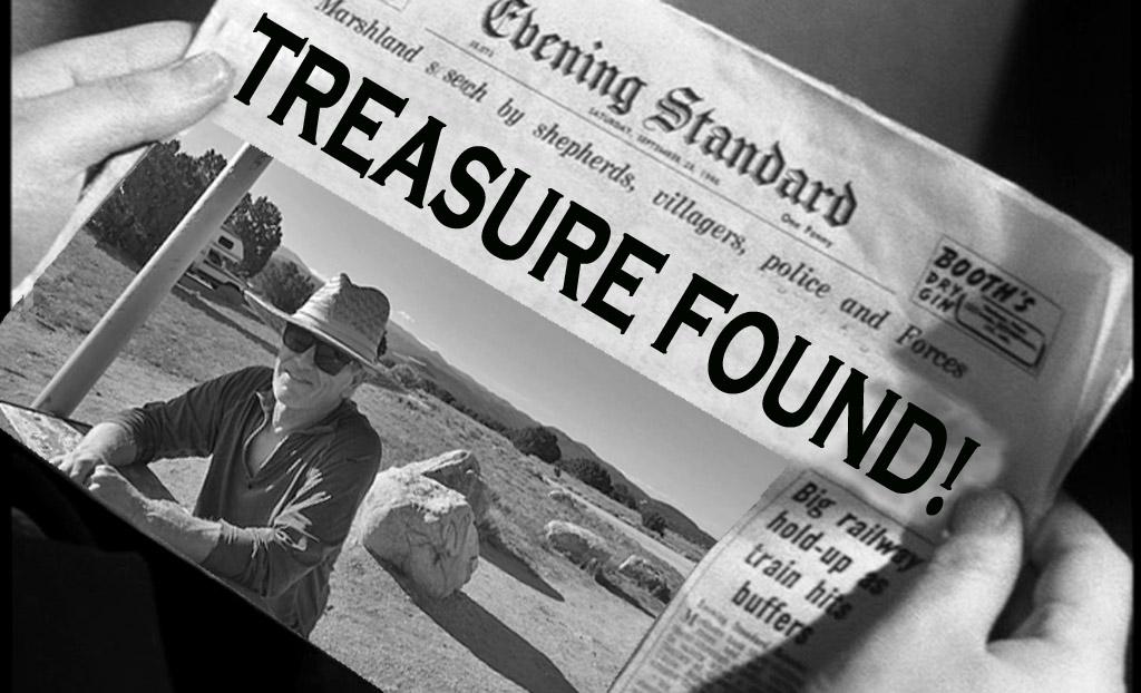 Treasure found newspaper headline