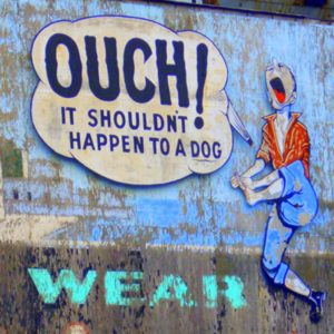 Ouch! Vintage sign