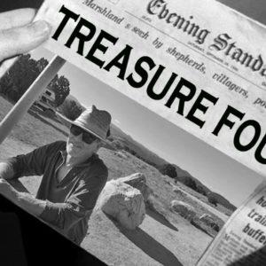 Treasure found! Newspaper headline