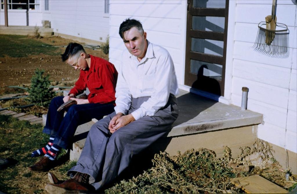 Dad and grandpa at Tulia house