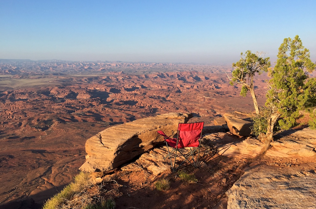 View of Canyonlands from Bears Ears campsite