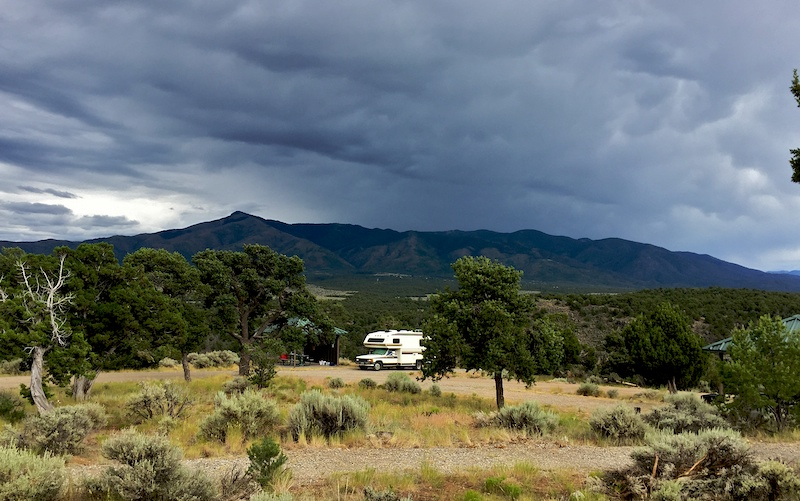 El Aguaje campground at Rio Grande del Norte