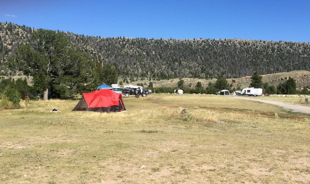 Free camping by Ring Lake, Wyoming