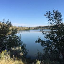 Free lakeside camping by Ring Lake, Wyoming